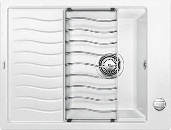 Кухонная мойка оборачиваемая с крылом и решеткой, белый Blanco Elon 45S 520993