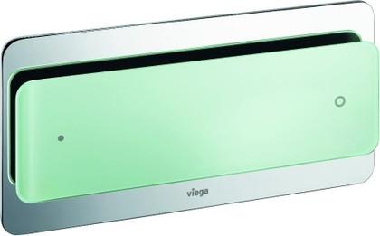 Кнопка смыва для инсталляции для унитаза, прозрачное стекло цвета зелёной мяты Viega Visign for More 103 630874