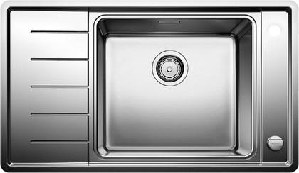 Кухонная мойка с чашой справа, с клапаном-автоматом, нержавеющая сталь полированная Blanco Andano XL 6S-IF Compact 521013