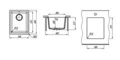 Кухонная мойка Florentina Вега, 340x420x217мм, капучино 22.305.A0300.306