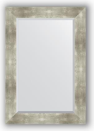 Зеркало 66x96см с фацетом 30мм в багетной раме алюминий Evoform BY 1180