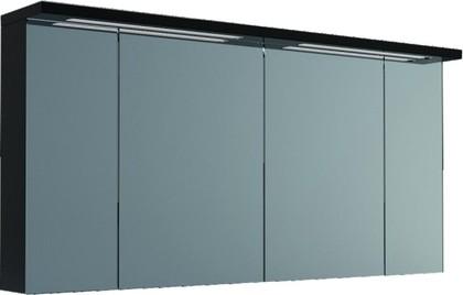 Шкаф зеркальный подвесной со светильником, 4 двери 140x23x73см Verona Viva VA608