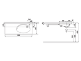 Накладная раковина 1000x385 мм, белая Jika Tigo 122190001061