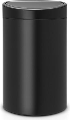 Мусорный бак Brabantia Touch Bin, 40л, чёрный матовый 114946