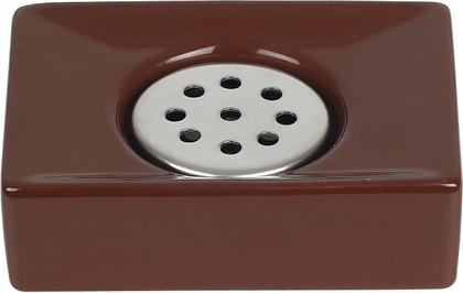 Мыльница коричневая Spirella Quadro 1013659