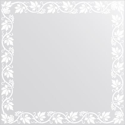 Зеркало для ванной с орнаментом 60x60см FBS CZ 0760
