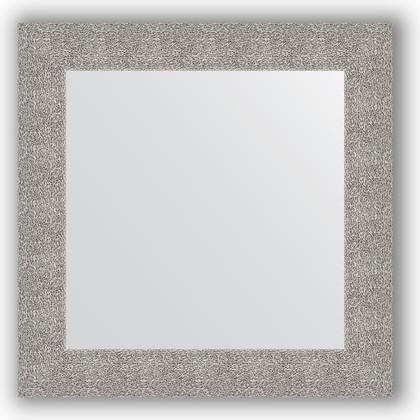 Зеркало в багетной раме 70x70см чеканка серебряная 90мм Evoform BY 3151