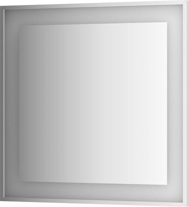 Зеркало 90x90 в багетной раме со встроенным LED-светильником Evoform BY 2211