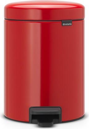 Мусорный бак с педалью 5л, пламенно-красный Brabantia Newicon 112089