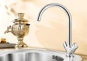 Классический кухонный вентильный смеситель с высоким изливом, хром Blanco AMONA 520769