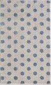 Коврик для ванной Grund Bindu, 60x100см, полиакрил, серый с серебряным люрексом 3617.16.299