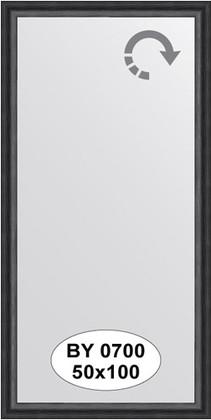 Зеркало 50x100см в багетной раме дуб чёрный Evoform BY 0700