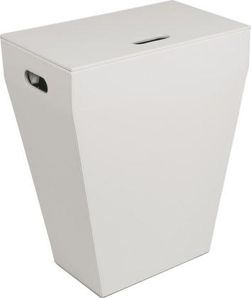 Корзина для белья белая экокожа Colombo Black&White B9201.EPB