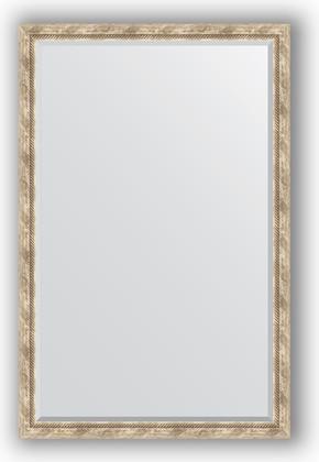 Зеркало с фацетом в багетной раме 113x173см прованс с плетением 70мм Evoform BY 3615