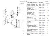 Смеситель вентильный на 3 отверстия с донным клапаном для раковины, хром Grohe CONCETTO 20216001