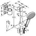 Душевой гарнитур, 1 вид струи, хром Kludi A-QA 6614005-00
