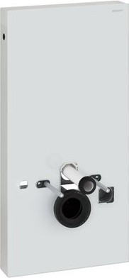 Сантехнический модуль (инсталляция) для установки подвесного унитаза, белое стекло / алюминий Geberit MONOLITH 131.024.SI.1
