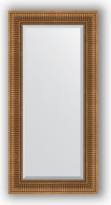 Зеркало с фацетом в багетной раме 57x117см бронзовый акведук 93мм Evoform BY 3492
