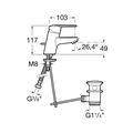 Смеситель для раковины, с донным клапаном, хром Roca Victoria 5A3025C04