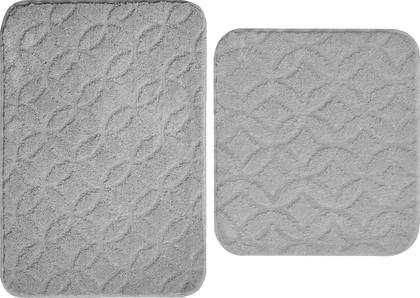 Набор ковриков для ванной Grund Diamond, 50x80см, 50x55см, полиэстер, серый B4026-155106303/060106303