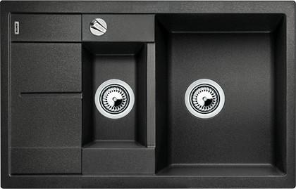 Кухонная мойка оборачиваемая с крылом, с клапаном-автоматом, гранит, антрацит Blanco Metra 6 S Compact 513473