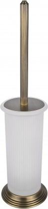 Туалетный ершик с колбой, напольный 43.5см, античная бронза/матовое стекло Colombo Hermitage B3306.OA