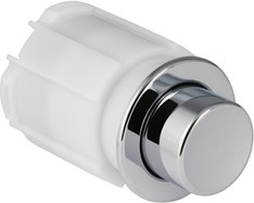 Пневмокнопка управления смывом унитаза для установки в мебель, одинарный смыв, хром Geberit 115.114.21.1