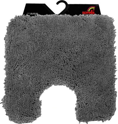 Коврик для туалета 55x55см серый Spirella HIGHLAND 1013083