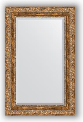 Зеркало с фацетом в багетной раме 55x85см виньетка античная бронза 85мм Evoform BY 3410