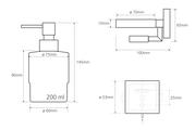 Дозатор для жидкого мыла Bemeta Beta, стекло, настенный, хром 132109182