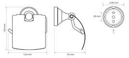 Держатель туалетной бумаги Bemeta Kera с крышкой, керамика, бронза 144712017