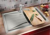 Кухонная мойка оборачиваемая с крылом, гранит, белый Blanco SONA 45 S 519665