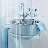Штора для ванной прозрачная Spirella Transparent, 180x200см, полихлорвинил 1018732