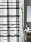 Штора для ванны 180x200см текстильная чёрная Spirella KARO 1013543