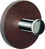 Крючок для полотенец Spirella Punt-Round, самоклеящийся, коричневый, хром 1014773