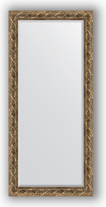 Зеркало 76x166см с фацетом 30мм в багетной раме фреска Evoform BY 1309