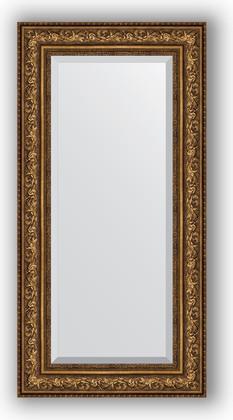 Зеркало с фацетом в багетной раме 60x120см виньетка состаренная бронза 109мм Evoform BY 3505