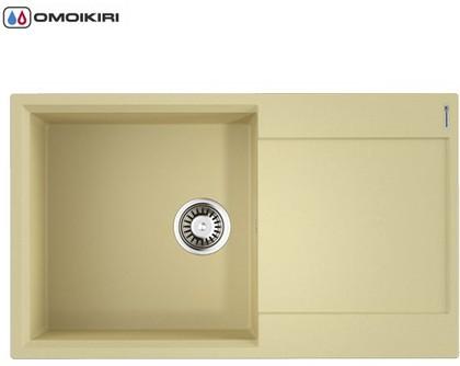 Кухонная мойка Omoikiri Daisen-86-MA с крылом, марципан 4993695