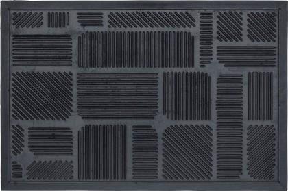 Коврик придверный 45х75см, черные квадраты Golze Structure 328-30-01