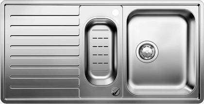 Кухонная мойка оборачиваемая с крылом, с клапаном-автоматом, коландером, нержавеющая сталь зеркальной полировки Blanco Classic PRO 6 S-IF 516852
