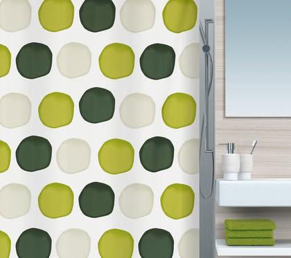 Штора для ванны 180x200см текстильная зелёная Spirella NUBO 1015182