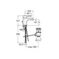 Смеситель для биде, с донным клапаном, хром Roca L20 XL 5A6A09C00