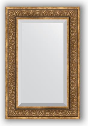 Зеркало с фацетом в багетной раме 59x89см вензель бронзовый 101мм Evoform BY 3422