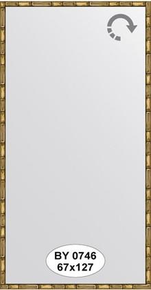 Зеркало 67x127см в багетной раме золото-бамбук Evoform BY 0746