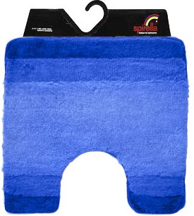 Коврик для туалета 55x55см синий Spirella Balance 1009205