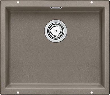 Кухонная мойка без крыла, с клапаном-автоматом, гранит, серый беж Blanco SUBLINE 500-U 517434