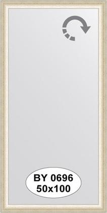 Зеркало 50x100см в багетной раме старое серебро Evoform BY 0696