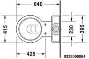 Чаша напольного унитаза, выпуск Vario Duravit STARCK 1 2330900641