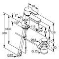 Смеситель для раковины однорычажный с донным клапаном, хром Kludi LOGO NEO 372820575