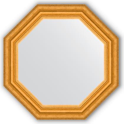 Зеркало Evoform Octagon 526x526 в багетной раме 67мм, состаренное золото BY 3733